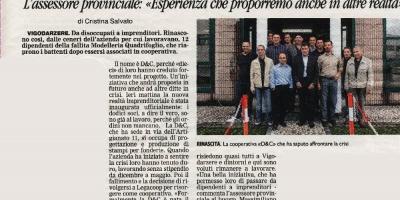 L'articolo sul Mattino di Padova